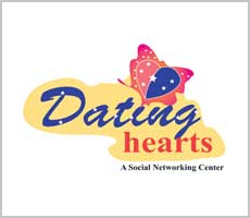 Dating Hearts Logo Design